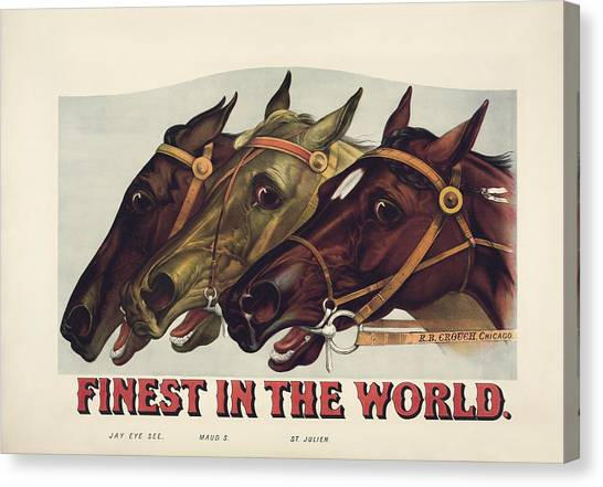 St Ives Canvas Print - Finest In The World - Vintage Horse Racing Print by War Is Hell Store