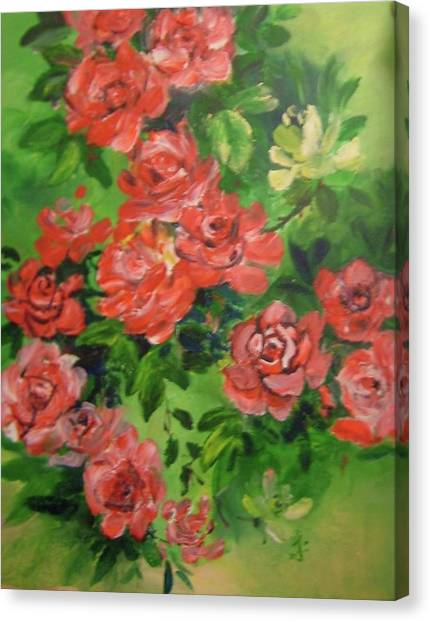 Finger Flower Canvas Print by Joanna Soh