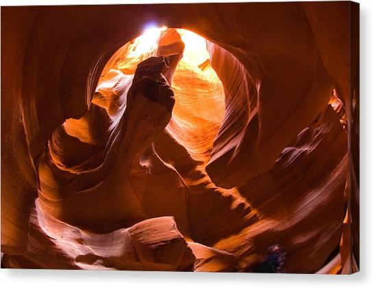 Finger Of Light Canvas Print