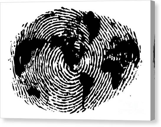 Art Movements Canvas Print - fingerprint 20X30 by Sassan Filsoof