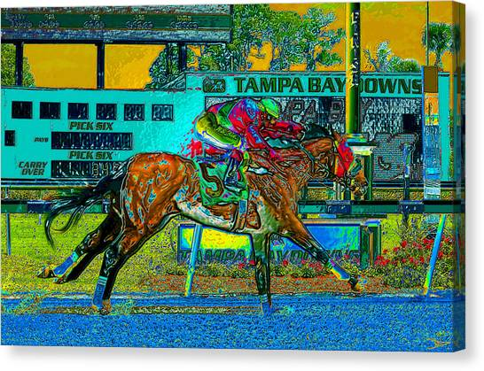 Finish Line Canvas Print - Finish Line by David Lee Thompson