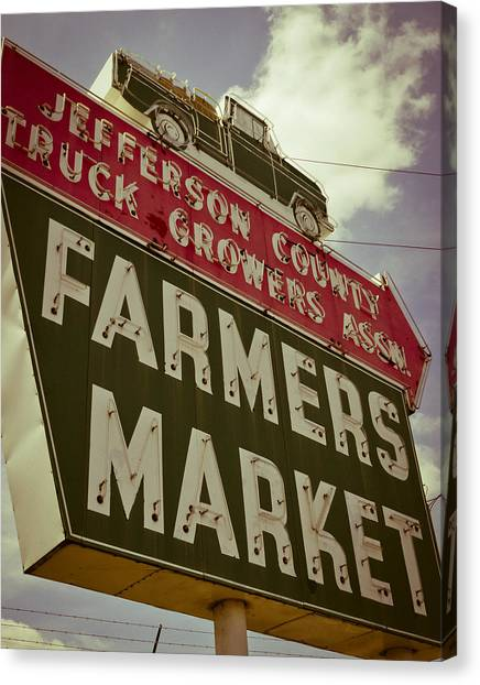 Finley Ave Farmer's Market Canvas Print
