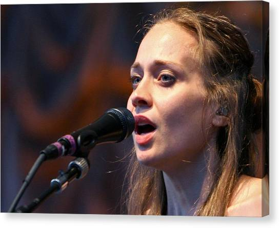 Microphones Canvas Print - Fiona Apple by Super Lovely