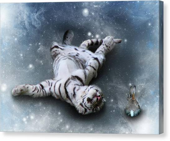 Fiona Floyd And The Freeze Canvas Print by Julie L Hoddinott