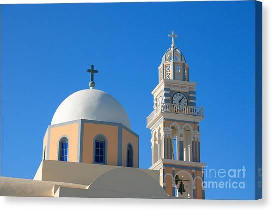 Fira Catholic Cathedral Horizontal Canvas Print