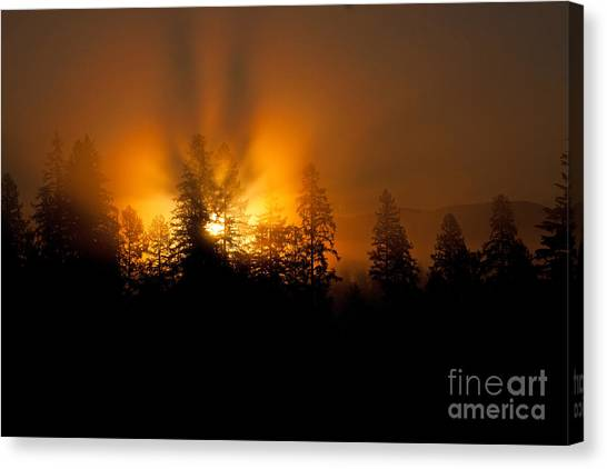 Fire And Fog Canvas Print