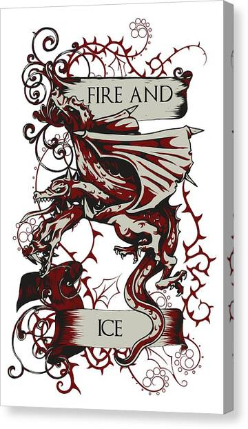 Canvas Print featuring the digital art Fire And Ice by Christopher Meade