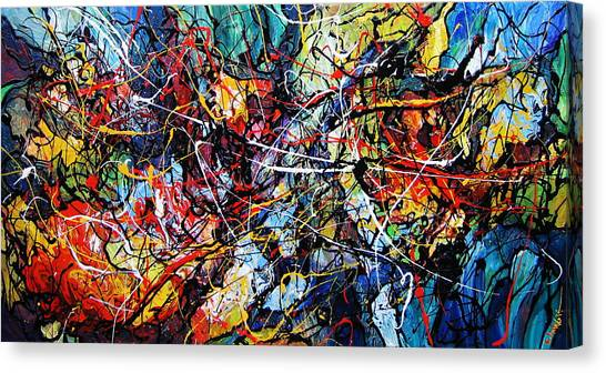 Fire And Ice Canvas Print by Eugenia Mangra