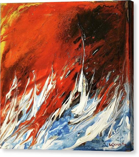 Fire And Lava Canvas Print