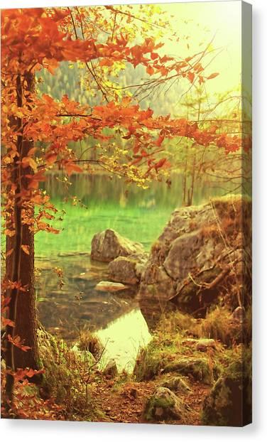 Susann Serfezi Canvas Print - Fire And Water by AugenWerk Susann Serfezi