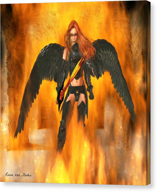 Fire Angel  Canvas Print
