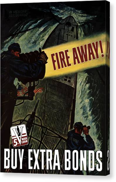 Submarine Canvas Print - Fire Away by War Is Hell Store