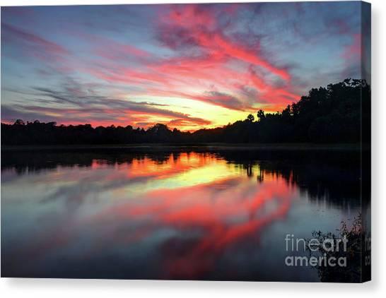 Fire Clouds Canvas Print by Rick Mann