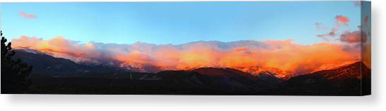 Fire Clouds - Panorama Canvas Print