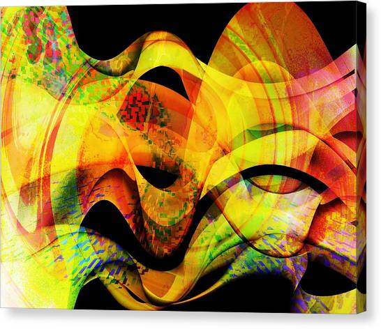 Contemporary Art Canvas Print - Fire by Contemporary Art