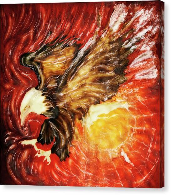 Fire Eagle Canvas Print by Paul Tokarski