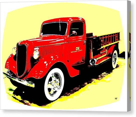 Ok Canvas Print - Fire Engine Ok by Will Borden