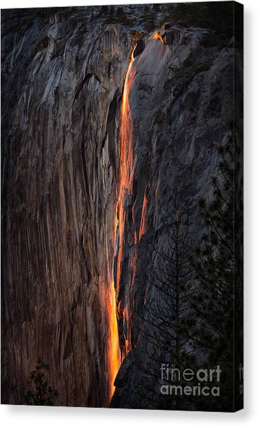 Fire Fall Canvas Print