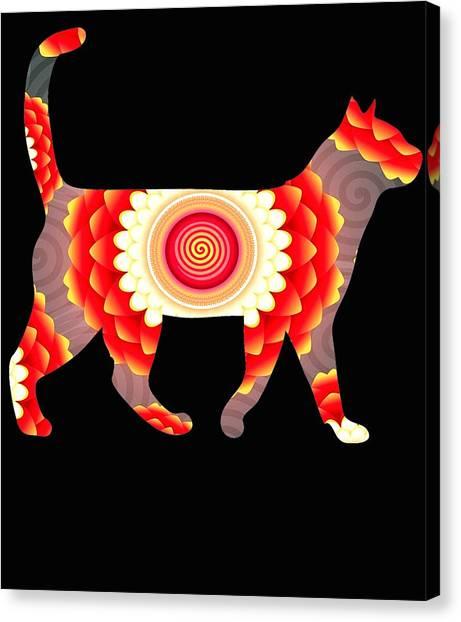 Ocicats Canvas Print - Fire Flower Cats by Kaylin Watchorn