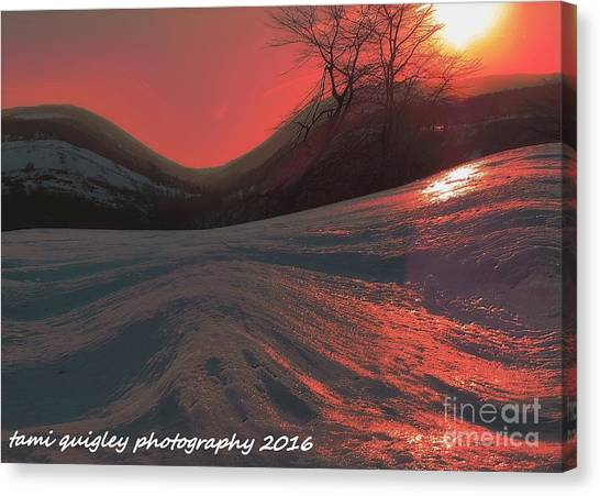 Fire Frost Canvas Print