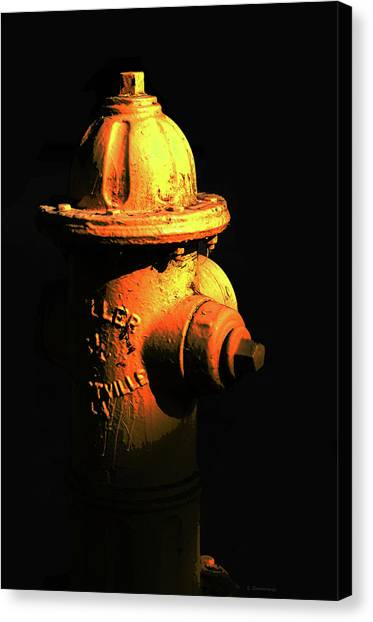 Volunteer Firefighter Canvas Print - Fire Hydrant Art - Hot - Sharon Cummings by Sharon Cummings