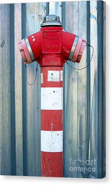 Fire Hydrant Steel Wall Canvas Print