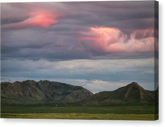 Glow In Clouds Canvas Print