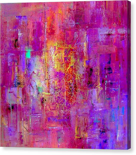 Fire In My Heart Abstract Canvas Print