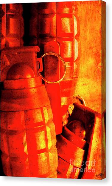 Wooden Canvas Print - Fire In The Hole by Jorgo Photography - Wall Art Gallery