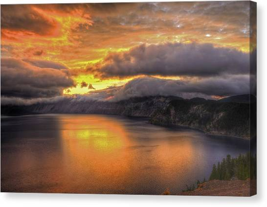 Fire In The Lake #1 Canvas Print
