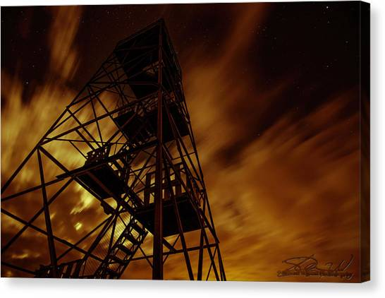 Fire In The Night Canvas Print