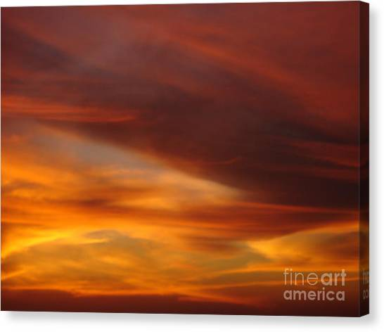 Fire In The Sky 2 Canvas Print by Chad Natti