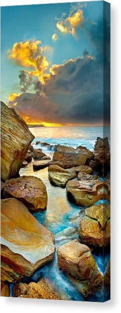 Australian Canvas Print - Fire In The Sky by Az Jackson