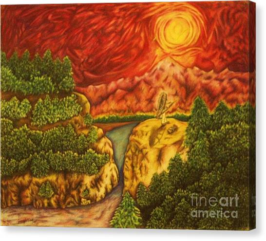 Fire In The Sky Canvas Print by Jamey Balester