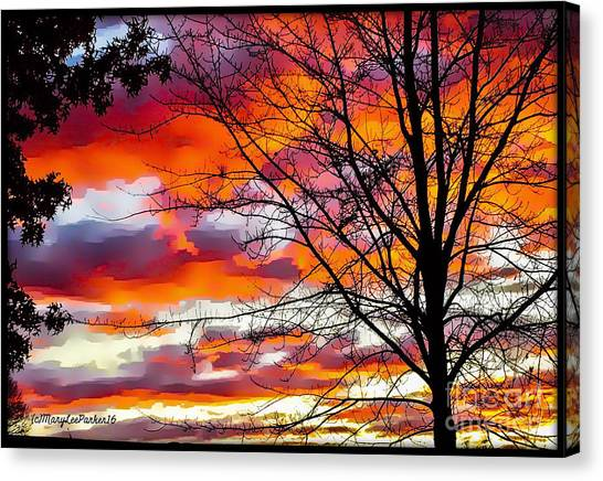 Fire Inthe Sky Canvas Print