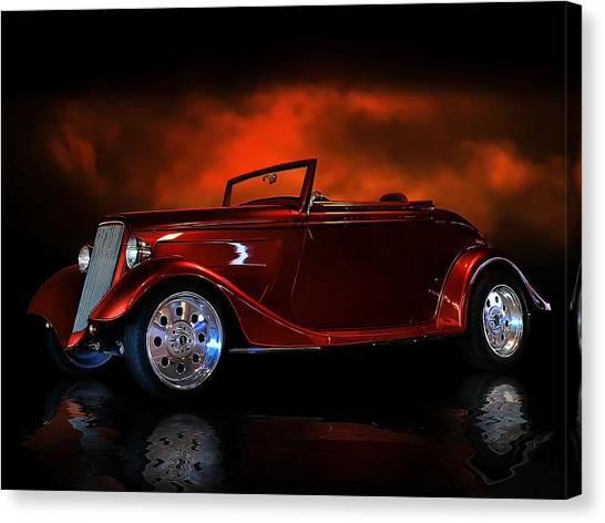 Fire Is The Lightning Canvas Print by Rat Rod Studios