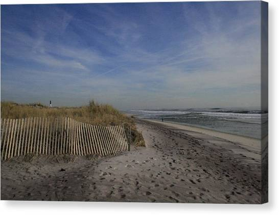 Fire Island Dune Fence Canvas Print