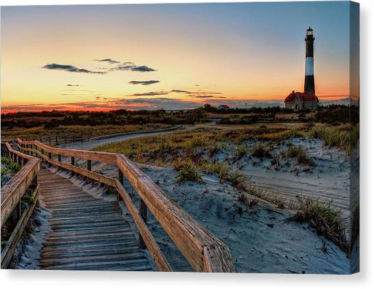 Lighthouses Canvas Print - Fire Island Lighthouse At Robert Moses State Park by Jim Dohms