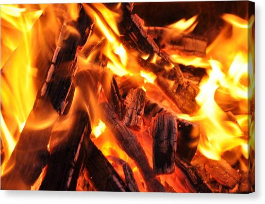 Fire Canvas Print by Leonard Voicu