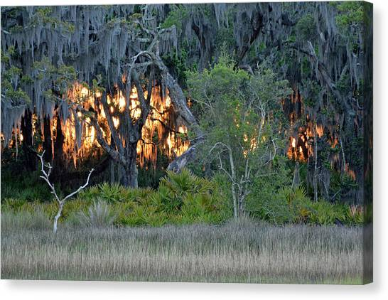 Fire Light Jekyll Island Canvas Print