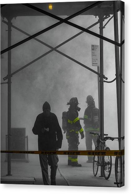 Fire Line Canvas Print