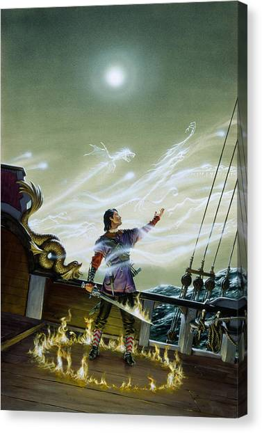 Ghostbusters Canvas Print - Fire Lord by Richard Hescox