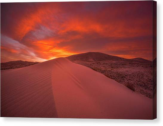 Fire Over Kelso Dunes Canvas Print