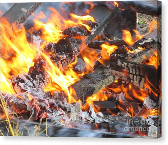 Canvas Print - Fire by Pamula Reeves-Barker