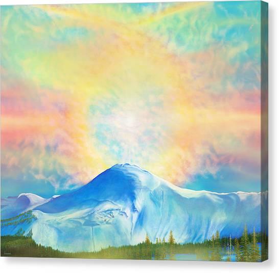 Fire Rainbow Over Alberta Peak Wolf Creek Colorado Canvas Print