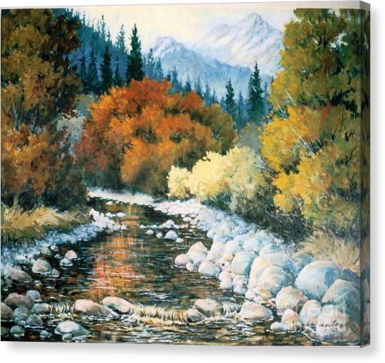 Fire River Canvas Print by JoAnne Corpany
