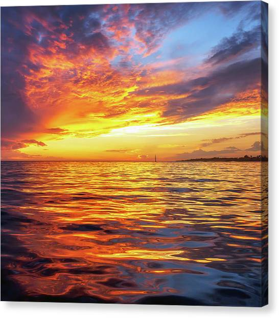 Fire Skies Canvas Print by Steve Spiliotopoulos