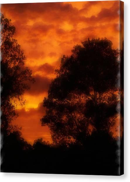 Fire Sky Canvas Print by Ken Gimmi