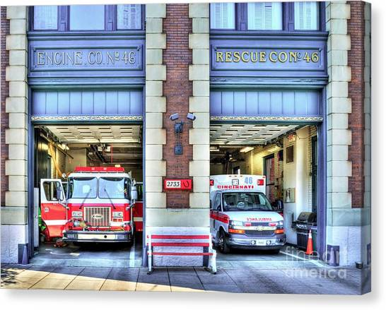 Fire Station Number 46 Canvas Print