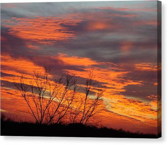 Fire Sunrise Canvas Print by Ana Villaronga